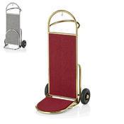 Recepční vozík Suite, zlatá - bordó - 61 x 70,5 x 121 cm - 1/6