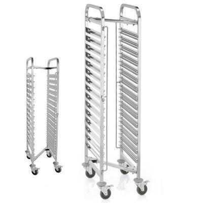 Regálový vozík GN 1/1 skládací, 15 GN nebo 30 podnosů GN 1/1 - 55 x 38 x 171 cm - 20 kg