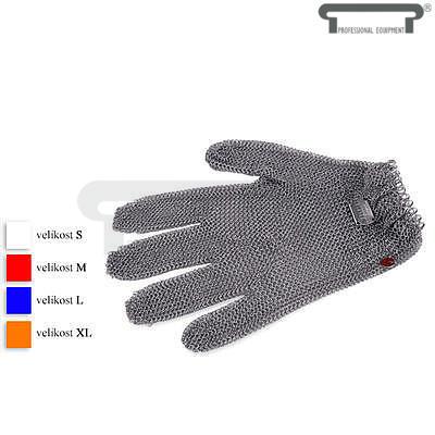 Řeznická rukavice s uzavíratelným systémem, bílá - S