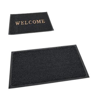 Rohožka Welcome z PVC, šedá - 150 x 120 cm - bez nápisu - 1