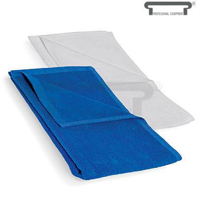 Ručník bílý a modrý froté, bílá - 50 x 100 cm