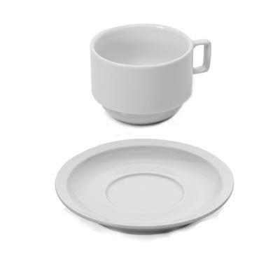 Šálek a podšálek cappuccino stohovatelný, podšálek - 14 cm