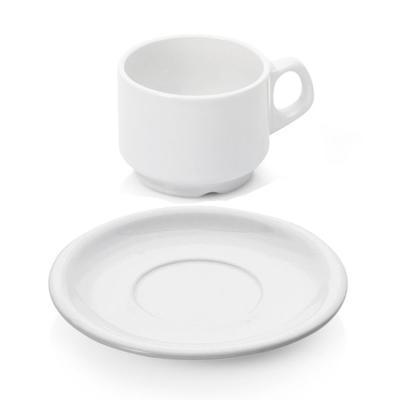 Šálek a podšálek espresso stohovatelný, šálek espresso - 0,08 l - PR 6 x V 4,8 cm