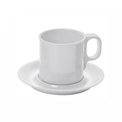 Šálek a podšálek melamin bílý, šálek - bílá - 0,25 l / 7,7 cm