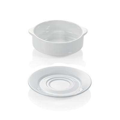 Šálek a podšálek na polévku s držadly, šálek polévkový - 0,26 l - 10 x 5,5 cm - 1