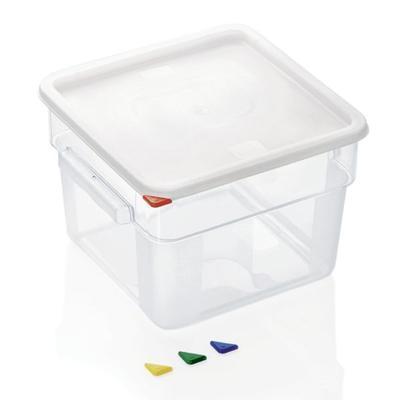 Skladovací box HACCP polykarbonát, 12 l - 28,5 x 28,5 x 21 cm - 1