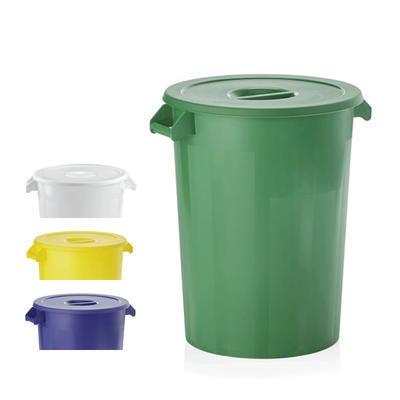 Skladovací nádoba HACCP 100 litrů, zelená s víkem - 51,5 x 67 cm - 1