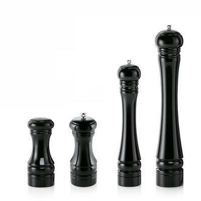 Slánka a mlýnek na pepř WOOD-KERAM černý, mlýnek na pepř - 13 cm