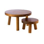Stojan bufetový stolička dřevěná, 15 cm - 10 cm - 1/2