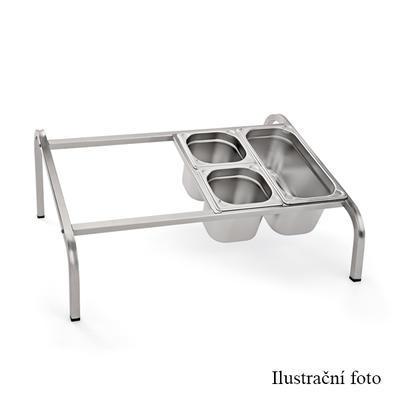Stojan pro gastronádoby nízký GN 1/3, pro 4 GN 1/3 - 72,5 x 54 x 28 cm