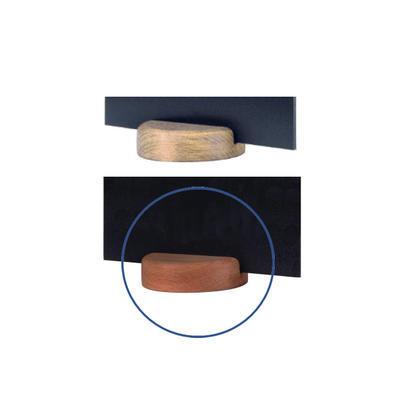 Stojánek kulatý dřevěný na tabulky, stojánek tmavý - 7 cm - 5 ks - 1
