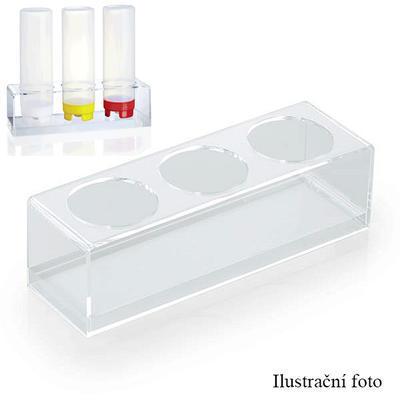 Stojánek na dávkovací lahve 0,70 l, 29,5 x 9 x 9 cm