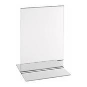 Stojánek na jídelní lístek akryl, Držák karet A6 - 1/2
