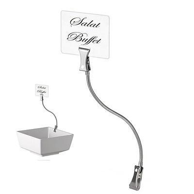 Stojánky na karty FLEXIBEL, stojánek bez kartiček - 12 x 1,6 cm