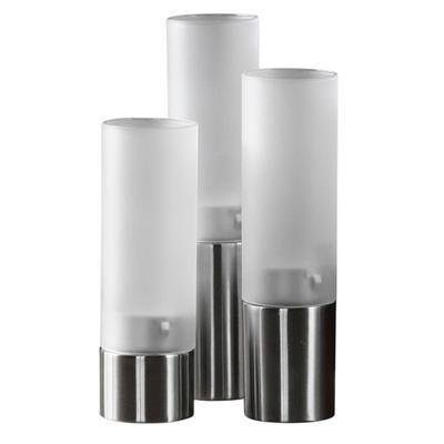 Svícen na čajové svíčky sada 3 ks, sada 3 ks - 5 cm - 15,5/18/20,5 cm