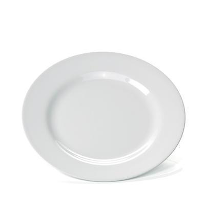 Talíř mělký bílý melamin, bílá - 20 cm - 1