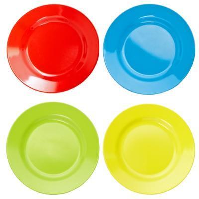 Talíř mělký melamin barevný, modrý - 20 cm - 1