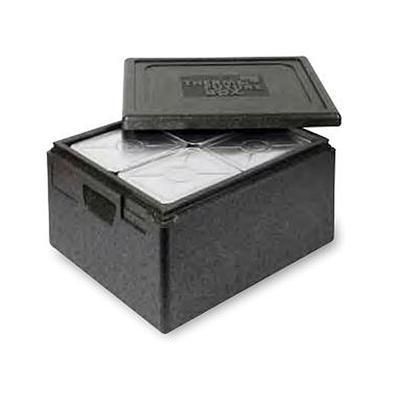 Termobox Menu 4 pro jídelní obaly, 525 x 430 x 195 mm - 465 x 370 x 130 mm - 22 l /4 x 4 misky