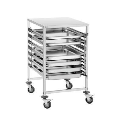 Transportní vozík pro GN 2/1 Bartscher, 655 x 740 x 1010 mm - 15,8 kg