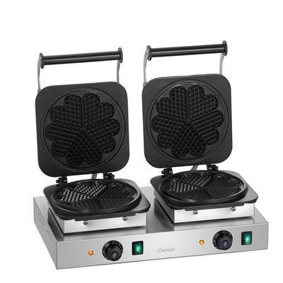 Vaflovač dvojitý tvaru srdce Bartscher, 600 x 470 x 220 mm - 4,4 kW / 2 x 230 V - 31,1 kg - 1