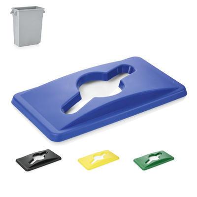 Víko na nádobu na odpad 65 l, modrá - 52 x 29 x 5 cm - 1