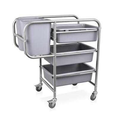 Vozík na nádobí s nádobami, vč. nádob - 80 x 44 x 93 cm