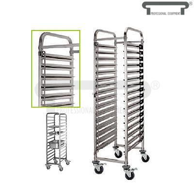 Vozík pro gastronádoby 15 vsuvů, 15 x GN 1/1 - 550 x 380 x 1740 mm - max 20 kg