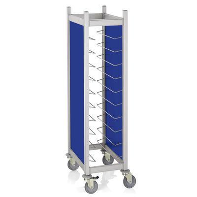 Vozíky na podnosy Cucina s bočním opláštěním, na 10 táců GN 1/1 - šedá - 68 x 46 x 168 cm - 1