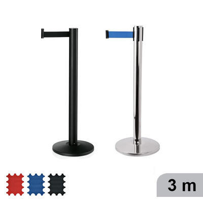 Vymezovač prostoru pásový Joinflex, stojan černý - modrá - 300 cm