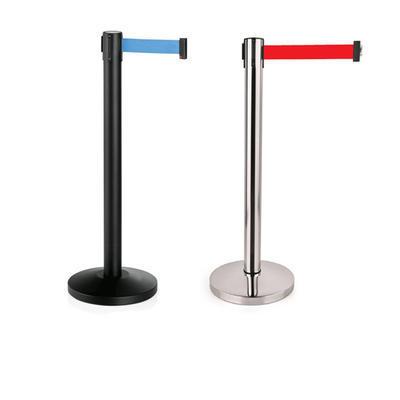 Vymezovač prostoru pásový Lightflex, stojan černý - červená - 200 cm