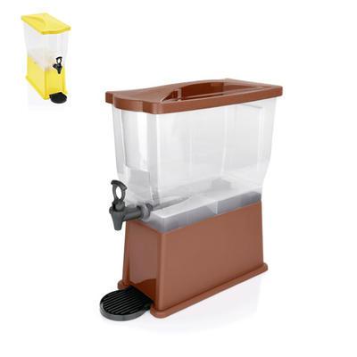 Zásobník na chlazené nápoje polypropylen, s hnědým víkem - 41,5 x 20,5 x 52,5 cm