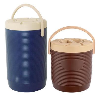 Zásobník na nápoje a pokrmy plastový 12 až 17 l, bez kohoutu/hnědý - 17 l - PR 30 x V 45 vm - 1