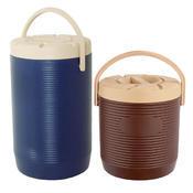 Zásobník na nápoje a pokrmy plastový 12 až 17 l, bez kohoutu/hnědý - 17 l - PR 30 x V 45 vm - 1/5