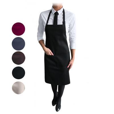Zástěra kuchařská s laclem střední, tmavě šedá - 25 cm / 70 cm / 84 cm