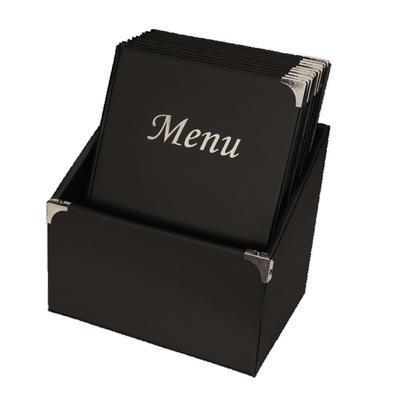 Box s jídelními lístky Basic, bordó - 10 JL + box - A4 - 2