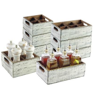 Box dřevěný s přihrádkami Vintage, 17 x 17 x 10 cm - 4 - 2