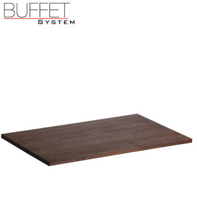 Bufetový modul nerez s deskou uni, nerez - světlý/uni deska - 6,5 cm - 2