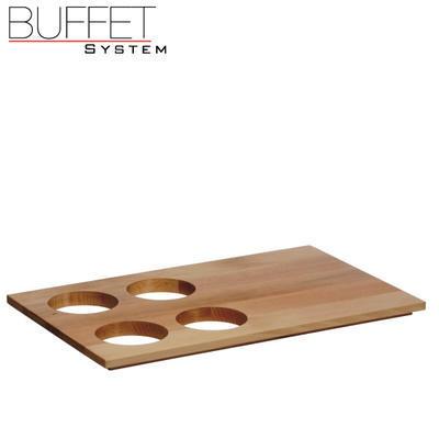 Bufetový modul nerez - 4 karafy, nerez - tmavý/4karafy - 6,5 cm - 2