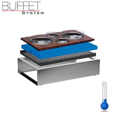 Bufetový modul ICE nerez - 4 misky, nerez ICE - světlý/4misky - 13 cm - 2