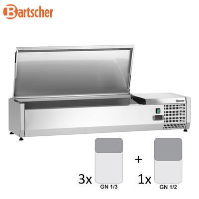 Chladicí nástavba nerez 3x1/3GN a 1x1/2GN Bartscher, 1200 x 400 x 275 mm - 0,166 kW / 230 V - 24,8 kg - 2