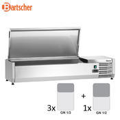 Chladicí nástavba nerez 3x1/3GN a 1x1/2GN Bartscher, 1200 x 400 x 275 mm - 0,166 kW / 230 V - 24,8 kg - 2/3