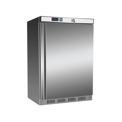 Chladnička podstolová Nordline UR 200 S, nerez / uvnitř bílá - 603 x 595 x 855 mm - 130 l / 78 l - 2