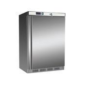 Chladnička podstolová Nordline UR 200 S, nerez / uvnitř bílá - 603 x 595 x 855 mm - 130 l / 78 l - 2/2