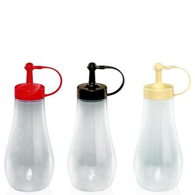 Láhev dávkovací baňatá s uzávěrem, víko krémové - 0,48 l - 21 cm - 2