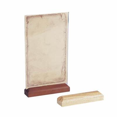 Držák laminovaných karet, světlé dřevo - 12 x 3 x 2 cm - 2