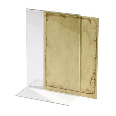 Stojánek na jídelní lístek akryl, Držák karet A6 - 2