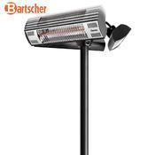 Terasový ohřívač se 3 výklopnými zářiči Bartscher, 600 x 600 x 2120 mm - 3 x 1 kW - 19,7 kg - 2/5