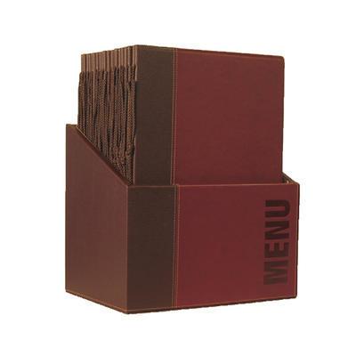 Box s jídelními lístky Trendy, zelená - 20 JL + box - A4 - 2