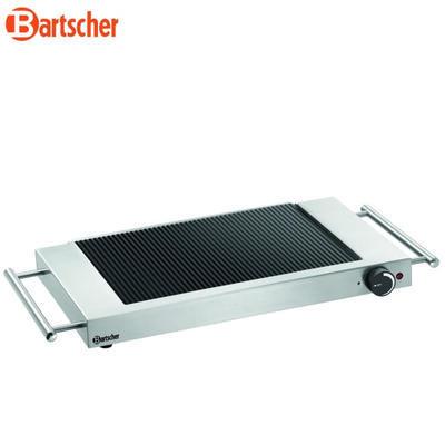 Grilovací deska keramická rýhovaná Bartscher, 640 x 365 x 63 mm - 1,2 kW / 220-240 V - 4,3 kg - 2
