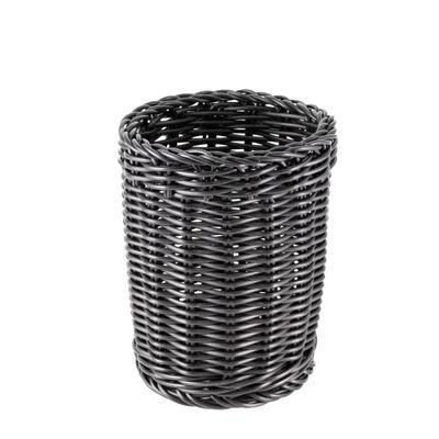 Košík na příbory kulatý, černý - 11,5 x 15 cm - 2